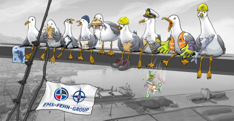 Illustration für den Ems-Fehn-Group-Kalender 2019