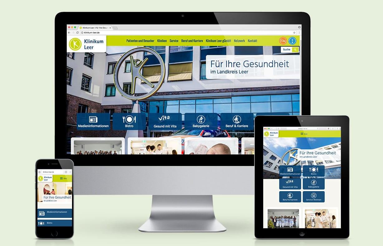 Creative Service - Website Klinikum Leer