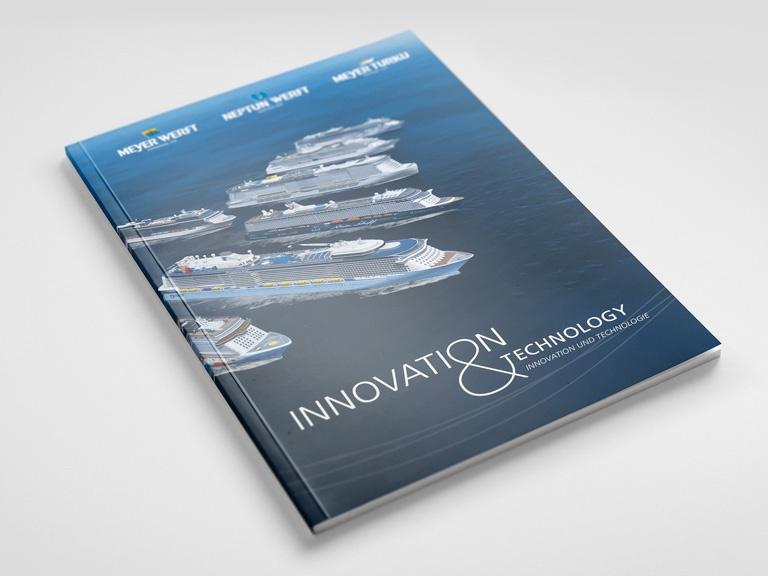 Creative Service - Broschüre Meyer Werft Titelseite