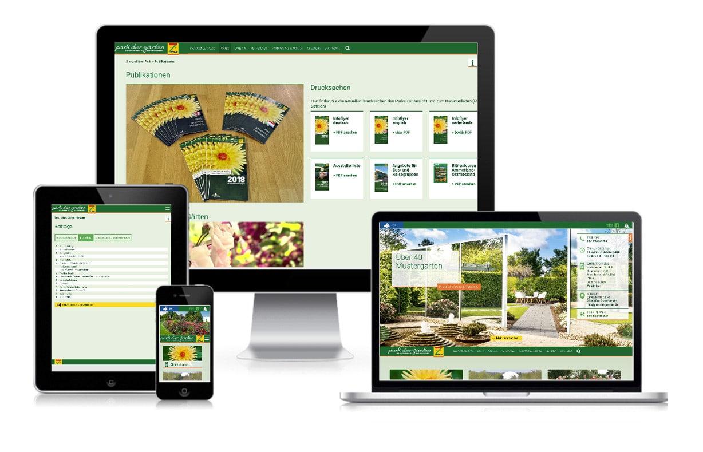 Creative Service - Website Park der Gärten