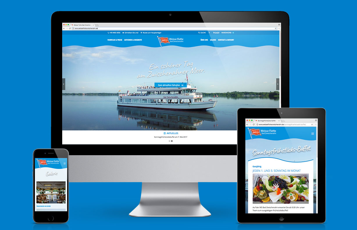 Creative Service - Website Weisse Flotte