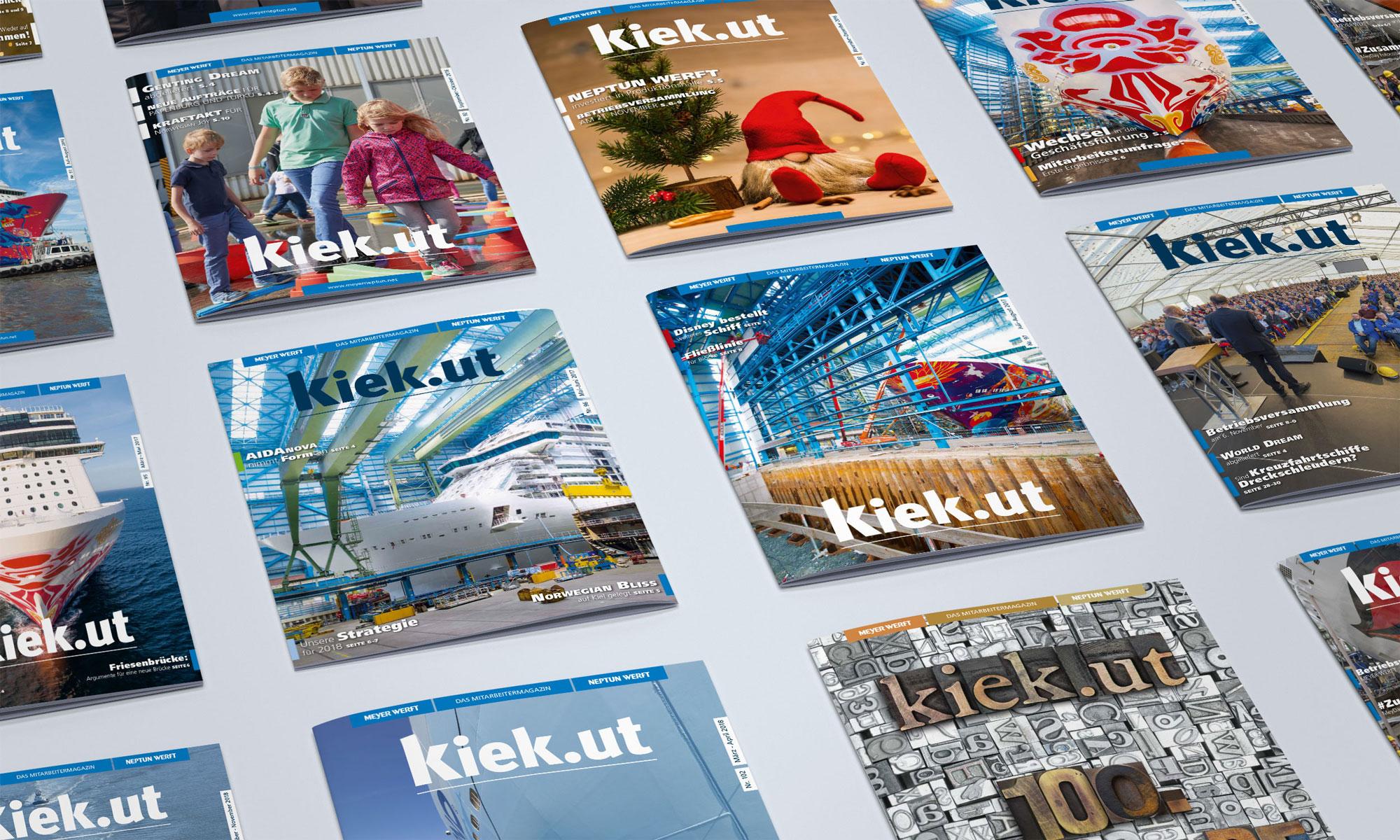 Creative Service - Mitarbeiterzeitung kiek.ut Meyer Werft