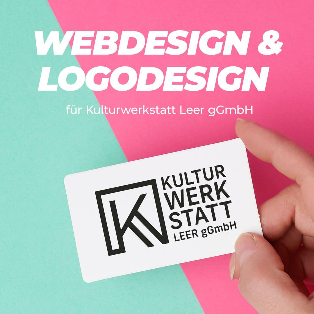 Webdesign & Logodesign für die Kulturwerkstatt Leer