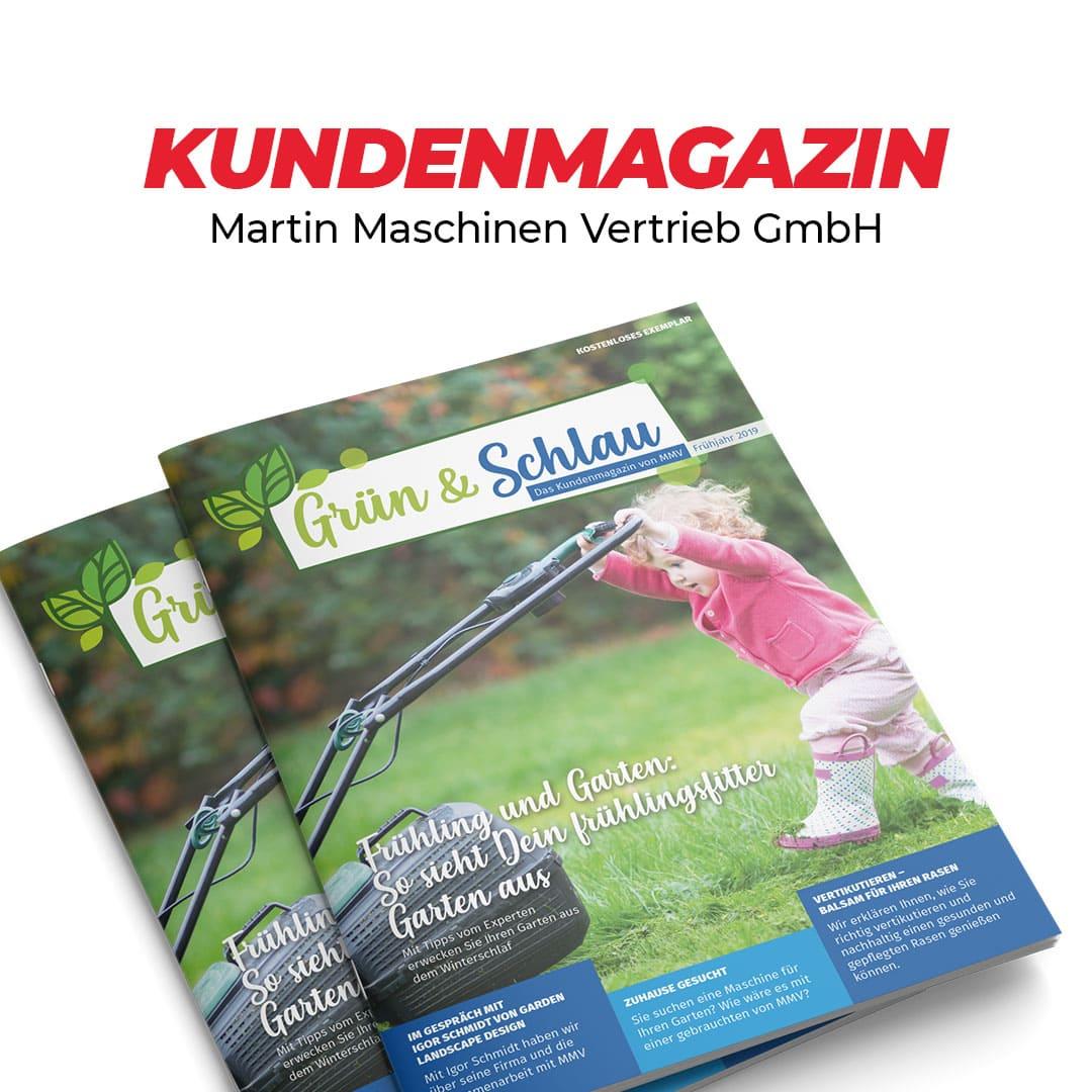 """""""Grün & schlau"""" Kundenmagazin für Martin Maschinen Vertrieb"""