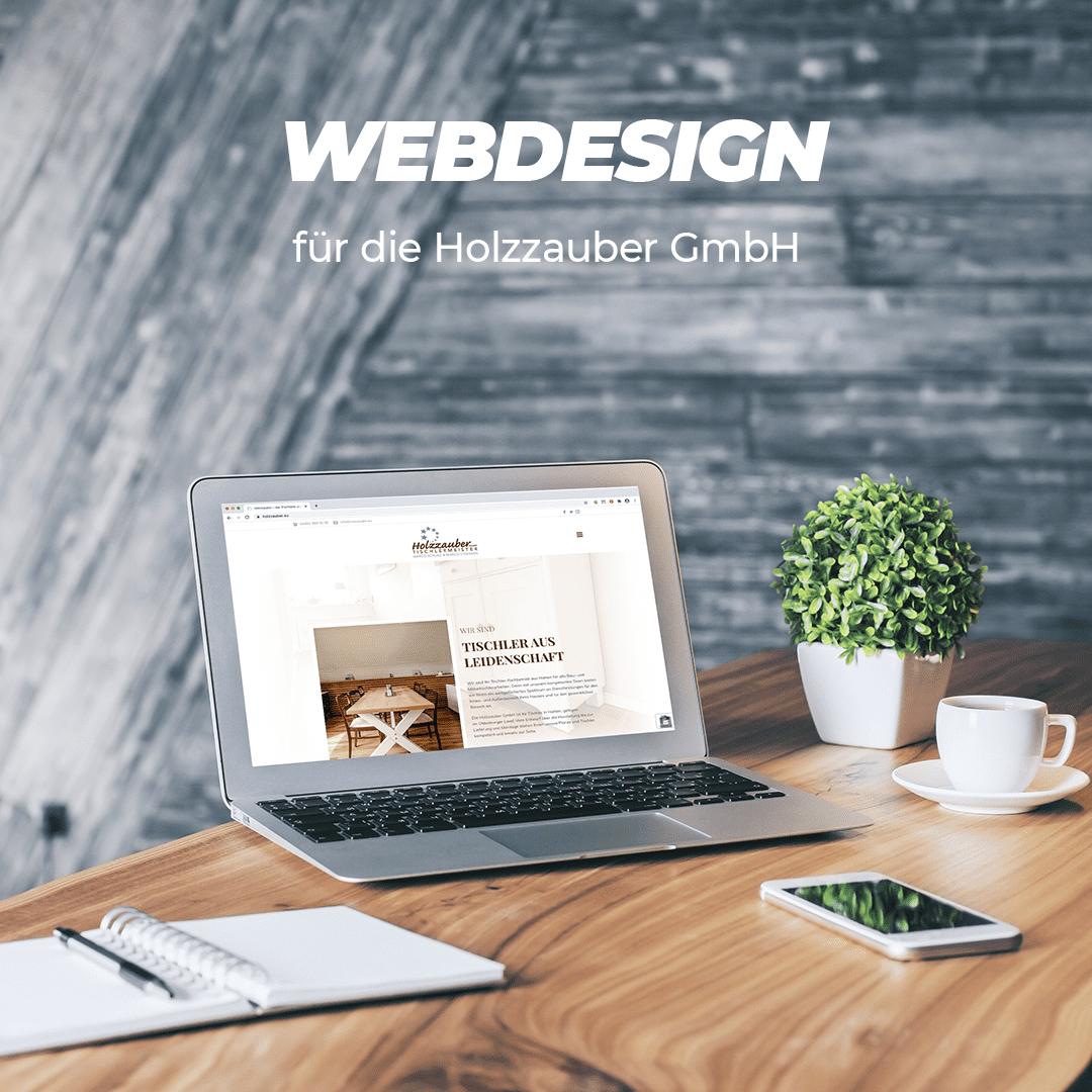Webdesign für die Tischlerei Holzzauber