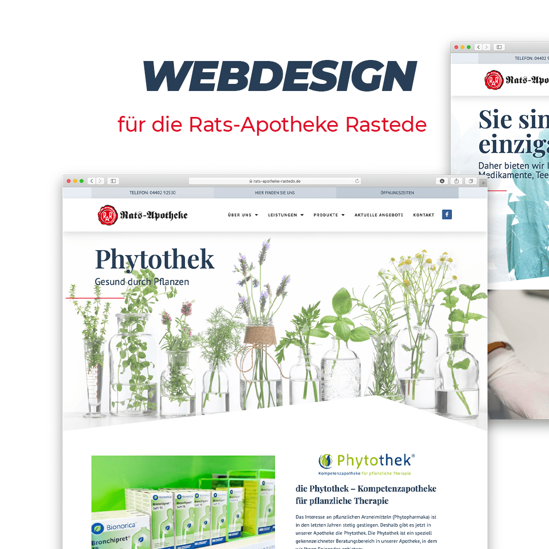Webdesign für die Rats-Apotheke Rastede